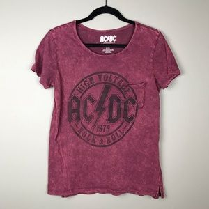 Tops - AC/DC stone washed band t-shirt